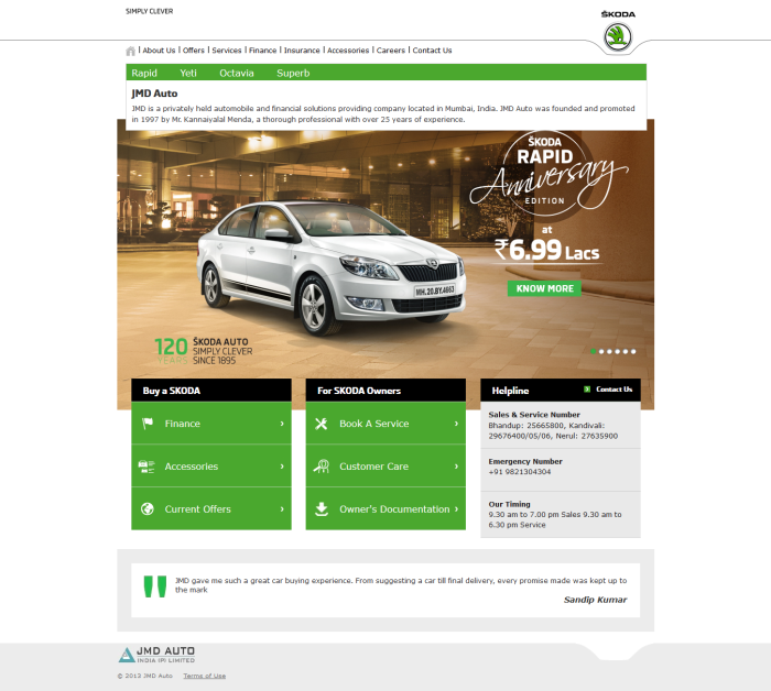 SKODA Dealer Sites